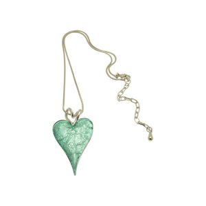 Miss Milly Mint Heart Necklace - Pixi Daisy