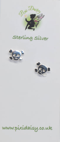 skull and cross earrings - Pixi Daisy