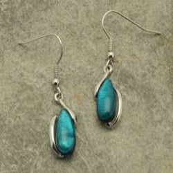 Miss Milly Teal Pebble Fish Hook Earrings - pixi-daisy