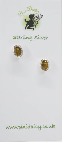 Brown Tourmaline Ear Studs - Pixi Daisy