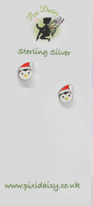 Christmas Penguin Ear Studs - Pixi Daisy