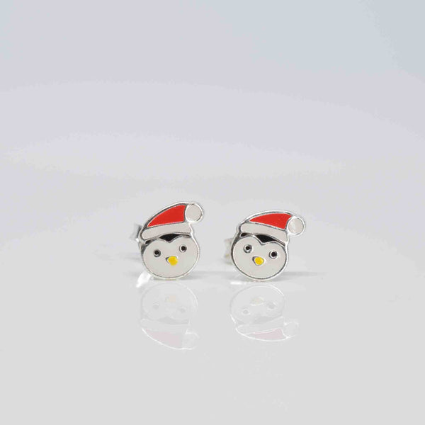 Christmas Penguin Ear Studs