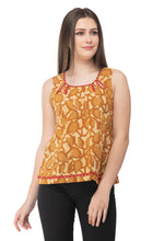 Load image into Gallery viewer, RUH_Mustard block print short top
