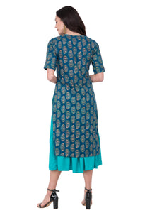 RUH_Green Double Layer Dress