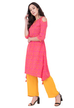 Load image into Gallery viewer, RUH_Bandhej Cold Shoulder Kurta