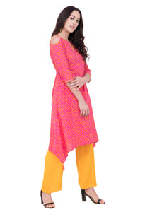 RUH_Bandhej Cold Shoulder Kurta
