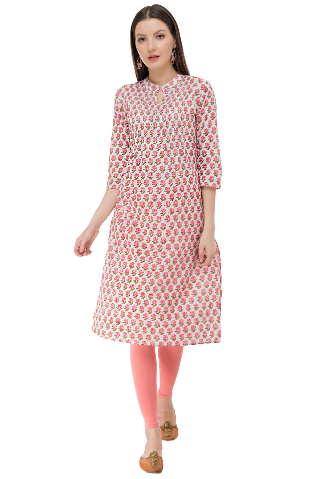 Ruh_ Pink Sequence white kurta