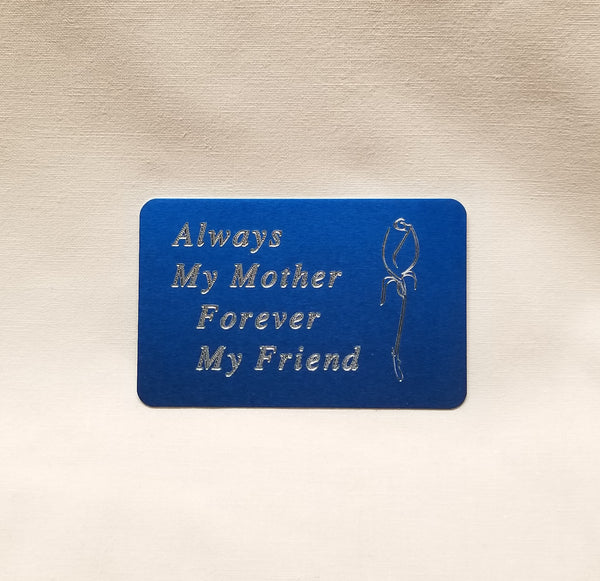 Wallet card for a Special Mother