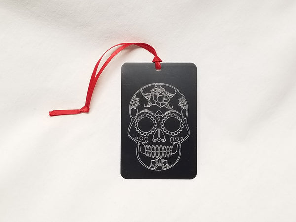 Bookmark (or car dangle) for sugar skull lover