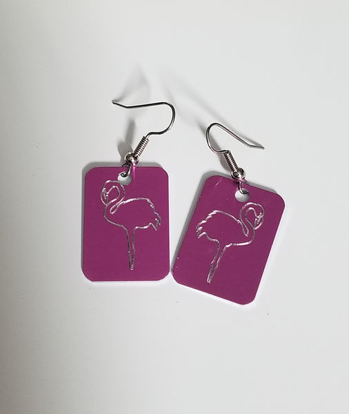 Pink Flamingo Earrings