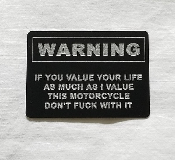 """Stern"" Warning for Your Motorbike"