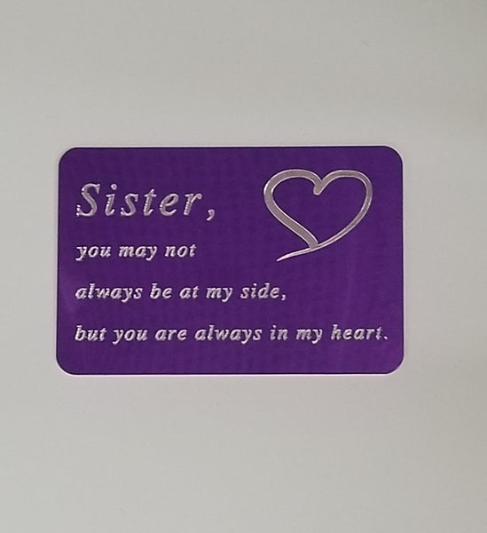 Wallet card for a Special Sister