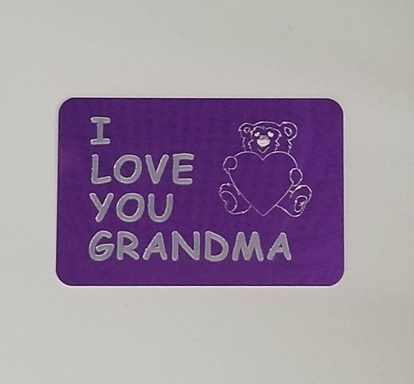 Wallet card for Grandma