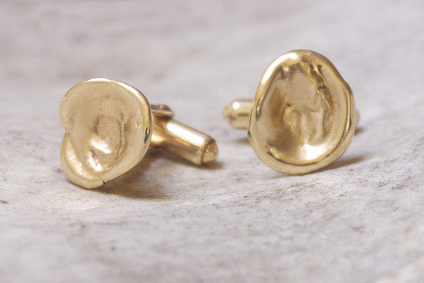 Basin Cufflinks Gold