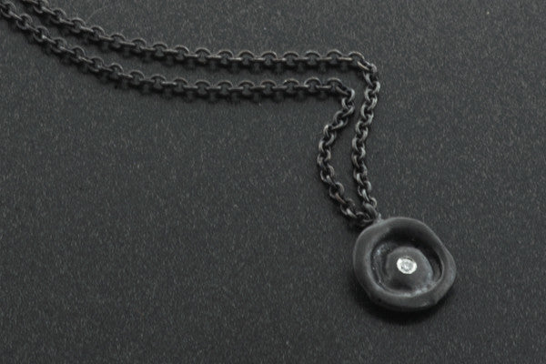 Ripple Pendant Oxidized