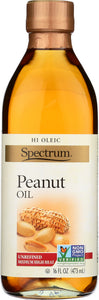 Spectrum Naturals Peanut Oil Unrefined, 16 oz