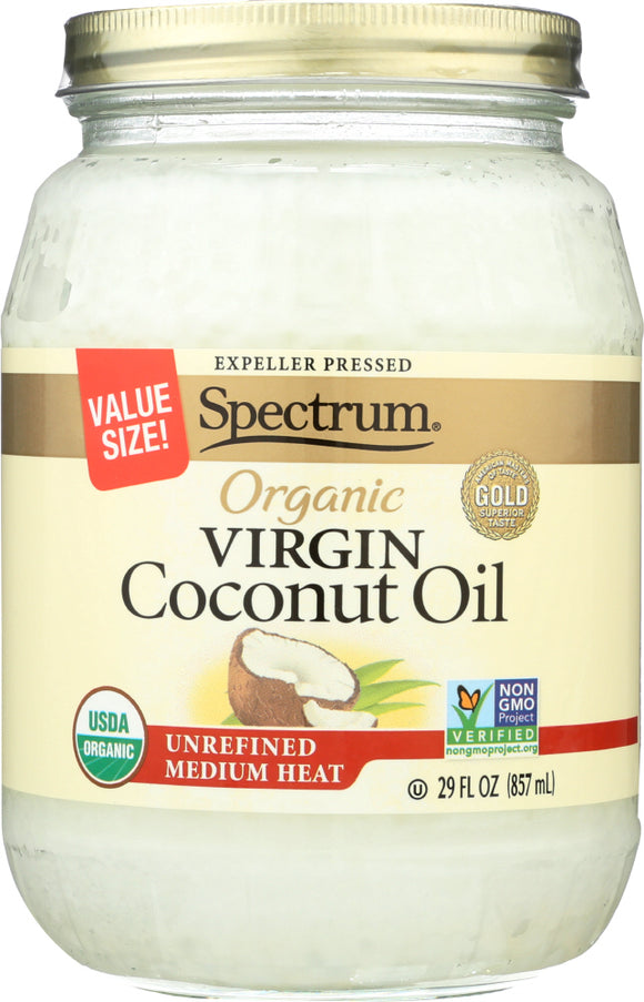 Spectrum Naturals Organic Virgin Coconut Oil Unrefined, 29 oz