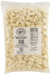 Ellsworth Natural White Cheddar Cheese Curds, 5 lb