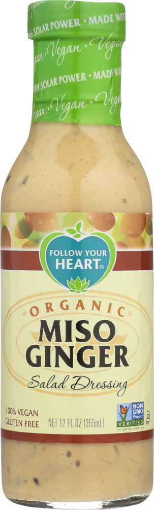 Follow Your Heart Organic Miso Ginger Salad Dressing, 12 oz