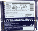 Ritter Sport Milk Chocolate Bar with Nougat Praline Filling, 3.5 oz