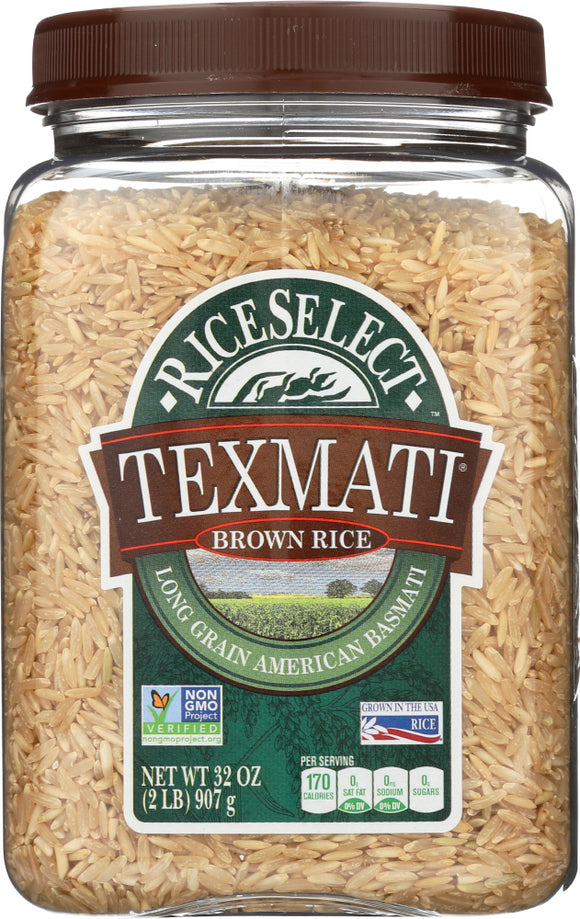 Rice Select Texmati Long Grain American Basmati Brown Rice, 2 Lb