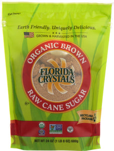Florida Crystals Sugar Brown Organic, 24 oz