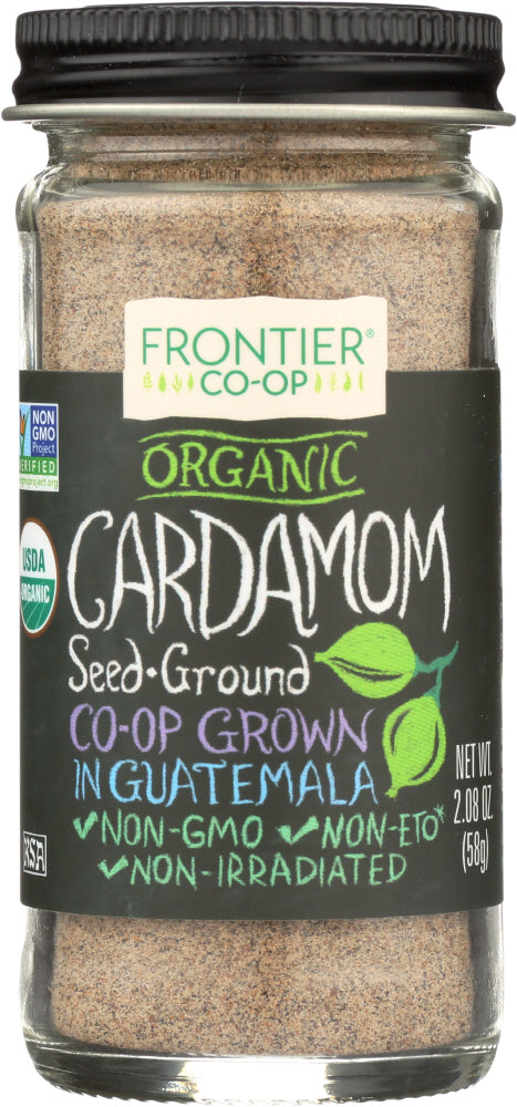 Frontier Herb Organic Cardamom Seed Ground Bottle, 2.08 oz