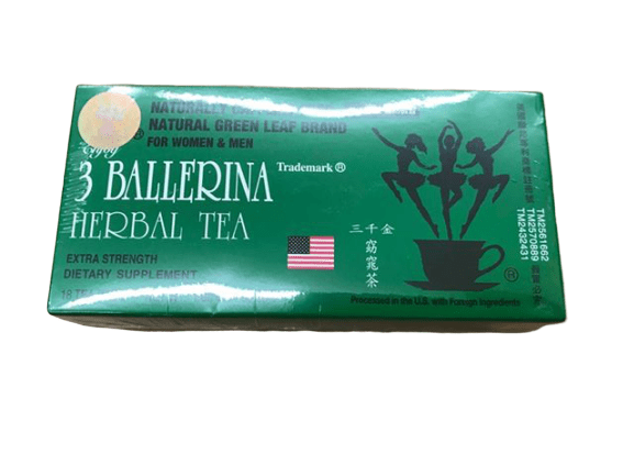 3 Ballerina 3 Ballerina Tea - Dieters Herbal Tea - 18 bags