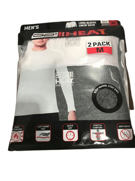 32 Degrees Men's Heat Tee T-Shirt, 2-Pack-ShelHealth.Com