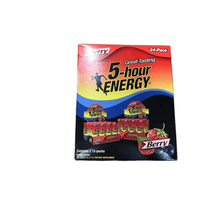 5-hour ENERGY 5-hour ENERGY Shot, Regular Strength Berry, 1.93 Ounce, 24 Count