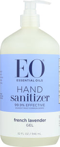 Eo  Hand Sanitizer Gel Lavender, 32 oz