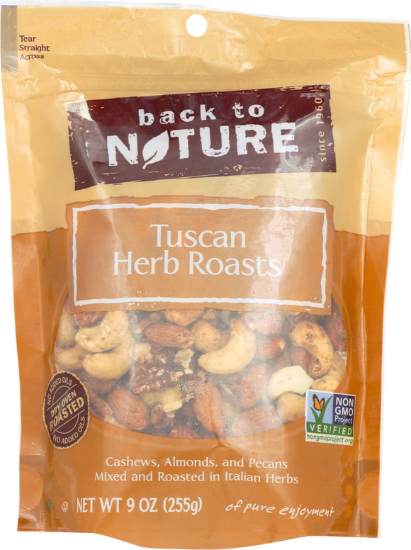 Back To Nature Tuscan Herb Roasts Nuts, 9 oz