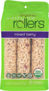 Bamboo Lane Organic Crunchy Rice Rollers Pouch Mixed Berry, 2.6 oz