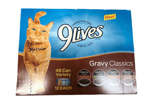 9Lives 9 Lives Gravy Classics Wet Cat Food Variety Pack, 48 pk.