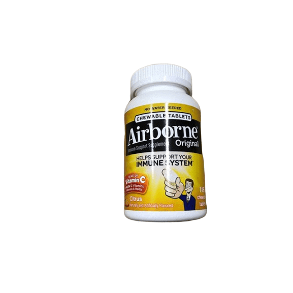 Airborne Airborne Citrus Chewable Tablets, 116 count - 1000mg of Vitamin C - Immune Support Supplement