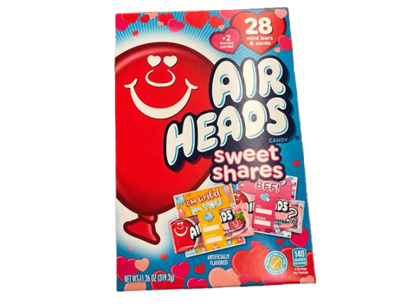 Airheads Airheads Valentine Cards Exchange Box, 28 Count