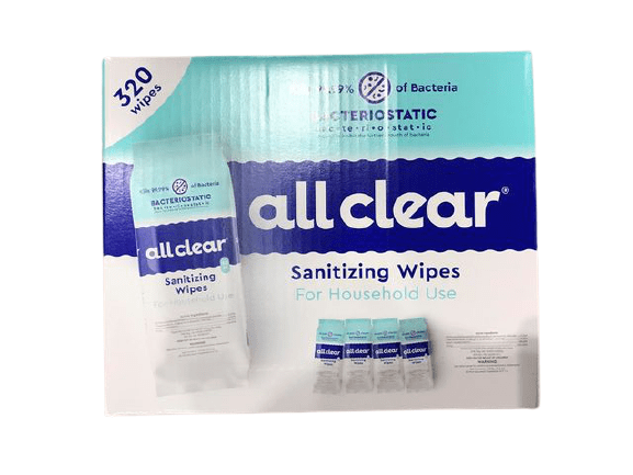 All Clear All Clear Sanitizing Wipes, 320 Wipes