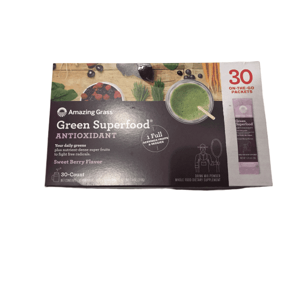 Amazing Grass Amazing Grass Green Superfood Antioxidant Sweet Berry Flavor, 30 Packets