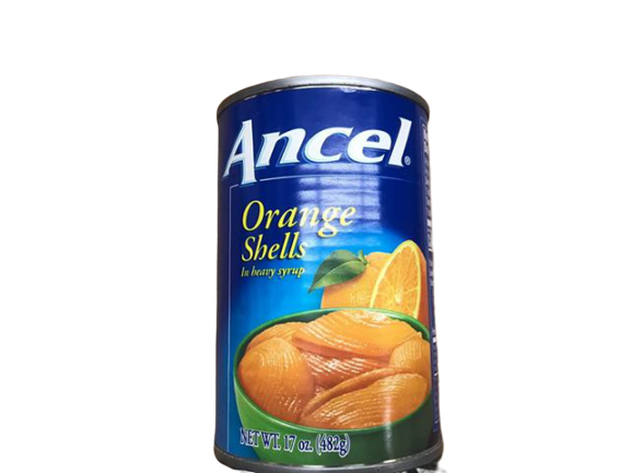 Ancel Ancel Orange Shells In Heavy Syrup, 17 Ounce