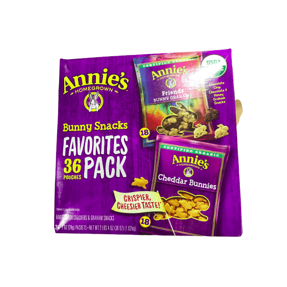 Annie's Annie's Homegrown Bunny Snacks Favorites Variety Pack, 36 Count