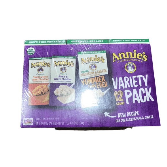 Annie's Annies Home Grown Organic Mac & Cheese, 12 Count