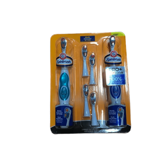 Arm & Hammer Truly Radiant Spinbrush with Refills, 2 pk. - ShelHealth.Com