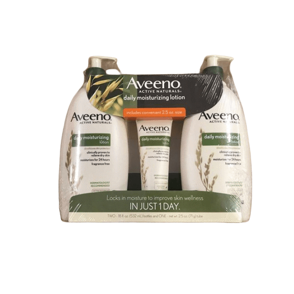 Aveeno Aveeno Daily Moisturizing Lotion For Dry Skin, 2 pk./18 fl. oz. with Bonus 2.5 oz. Bottle