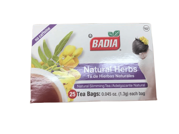 Badia Badia Natural Herbs Tea Bags 25-Count