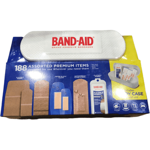 Band-aid Brand Adhesive Bandages with Case (188 Bandages) - ShelHealth.Com