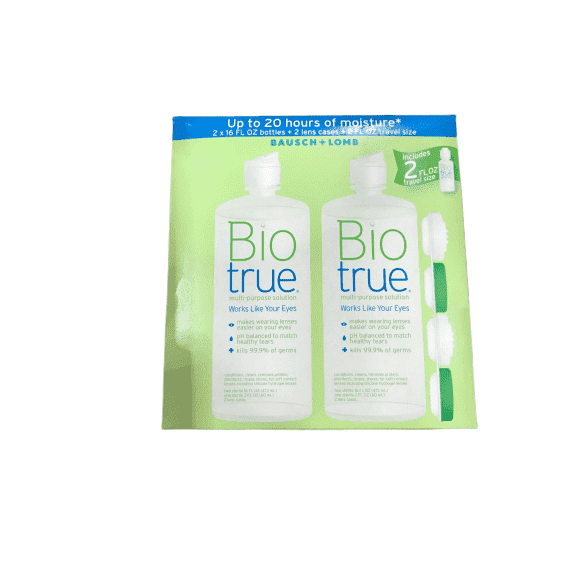 Bausch + Lomb Bausch & Lomb Biotrue Multi-Purpose Solution - 2/16 oz Bottles Plus 2 Lens Cases