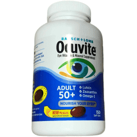 Bausch + Lomb Bausch + Lomb Ocuvite Adult 50+ Vitamin & Mineral Supplement (150 Softgels)