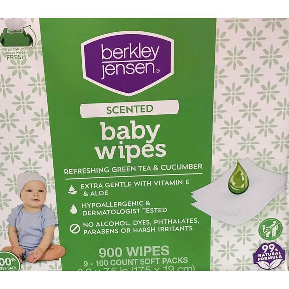 Berkley Jensen Berkley Jensen Green Tea & Cucumber Scented Baby Wipes, 9 pk./100 ct.