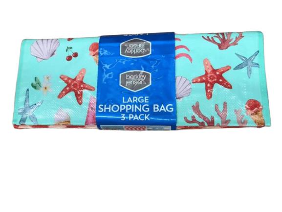 berkley jensen Large Shopping Bag, 3 Pack, Assorted Designs - ShelHealth.Com