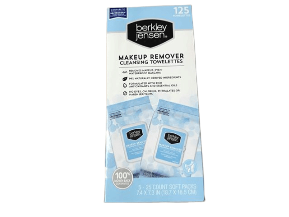 Berkley Jensen Make Up Remover Facial Towelettes, 125 ct. - ShelHealth.Com